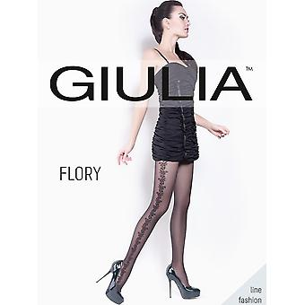 Giulia Flory Patterned Tights - Hosiery Outlet