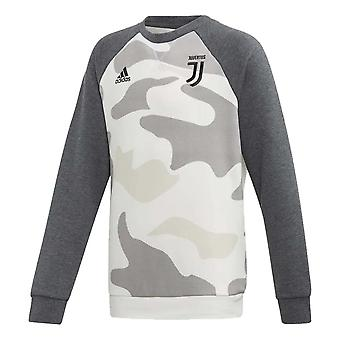 2019-2020 Juventus Adidas Crewneck fleece (Camo)-copii