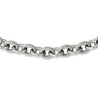 Acero Inoxidable Texturizado y Pulido 20inch Collar 20 pulgadas Regalos de joyería para las mujeres