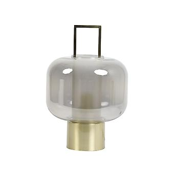Light & Living Table Lamp 23x36cm Arturos Glass Smoke And Bronze