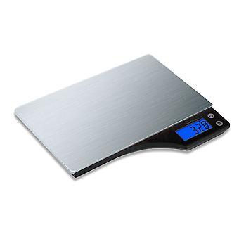 Kabalo RVS huishouden voedsel koken met een gewicht van Keukenweegschaal 5kg capaciteit 5000g / 1g, Batteries Included! Slank ontwerp, Premier LCD digitale elektronische, flat met blauwe achtergrondverlichting