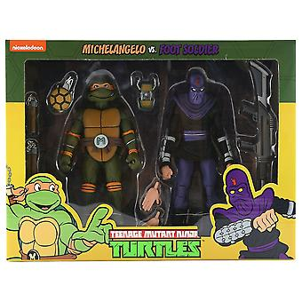 TMNT Michelangelo tegen Foot Soldier Fig 2Pk