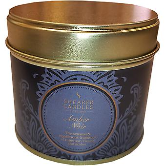 Shearer stearinlys Amber Noir Tin Candle