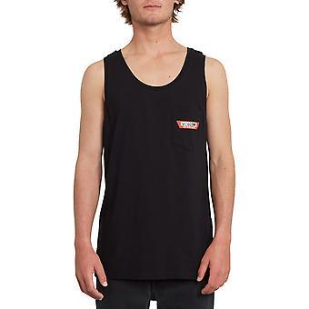 Volcom Trap Lightweight Sleeveless T-Shirt in Black