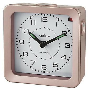 ATRIUM Alarm Clock Analog Quartz Alarm Clock A660-17 Light Snooze rosé