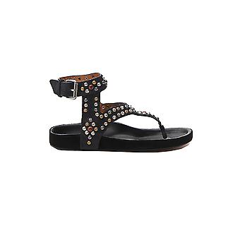 Isabel Marant 20psd02002020p016s02fk Women's Black Leather Sandals