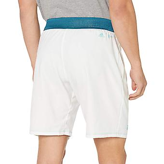adidas Performance Mens Parley Elasticated Tennis Sports Training Shorts - White