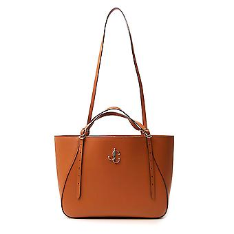 Jimmy Choo Varennetoteewclfcuoio Women's Brown Leather Tote