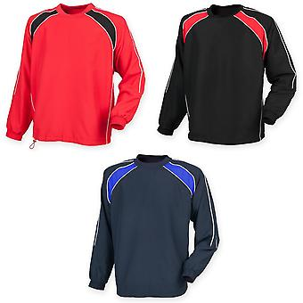 Finden & Hales Mens Long Sleeve Sports Warm-up Drill Top