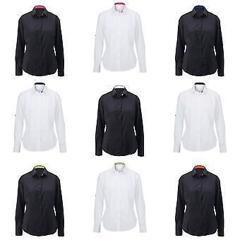 Alexandra Womens/Ladies Roll Sleeve Hospitality Work Long Sleeve Shirt