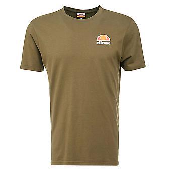 Ellesse Patrimonio Canaletto Mens Retro Moda T-Shirt T-Shirt Tee Khaki