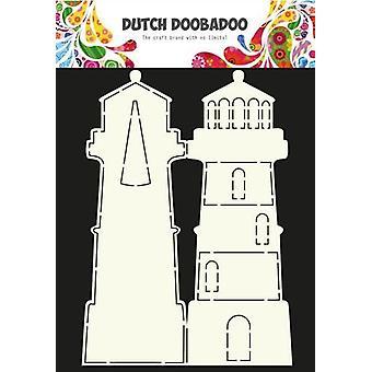 Dutch Doobadoo Dutch Card Art Stencil lighthouse A4 470.990.003