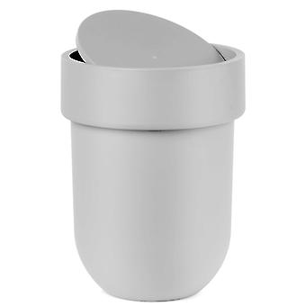 Umbra Touch Waste Can With Lid Grey