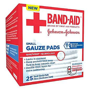 Band-aid first aid gauze pads, small, 2 inch x 2 inch, 25 ea