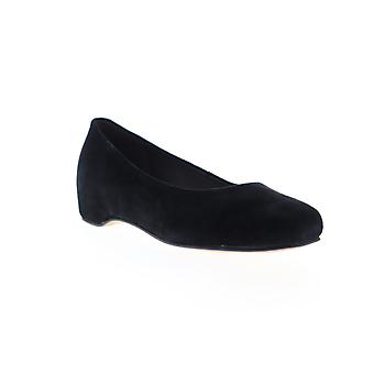 Camper Serena  Womens Black Nubuck Leather Slip On Flats Shoes