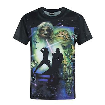 Star Wars Return Of The Jedi Sublimation Black Boy's T-Shirt