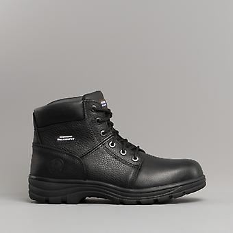 Skechers Work Relaxed Fit - Workshire St Mens Leather Safety Boots Black