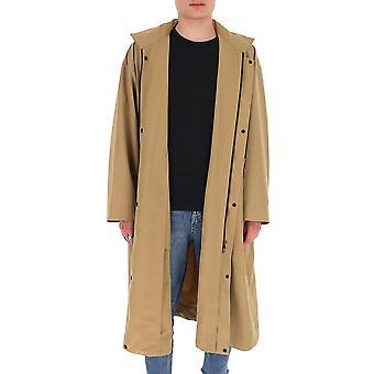 Homme Plissé By Issey Miyake Hp06fa02341 Men's Beige Nylon Coat