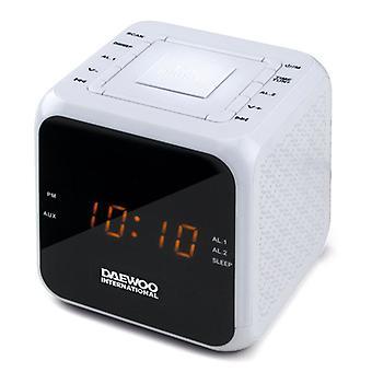 Horloge-Radio Daewoo DCR-450 Blanc