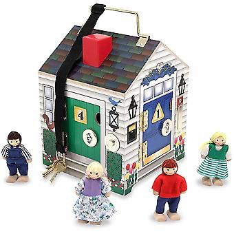 Melissa et Doug Take-along Wooden Doorbell Dollhouse