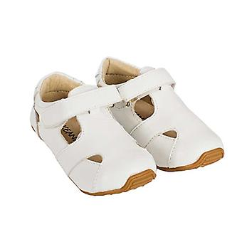 SKEANIE Toddler and Kids Leather Sunday Sandals in White