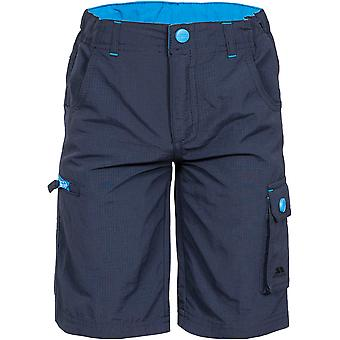 Trespass Boys Marty Multi Zip Pockets Water Repellent Walking Shorts