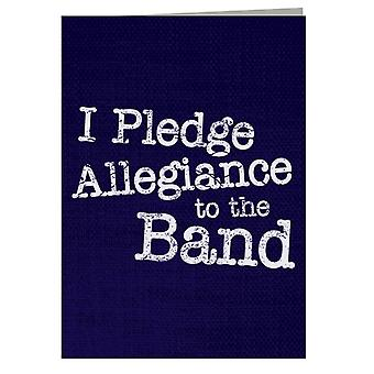School Of Rock I Pledge Allegiance To The Band Greeting Card