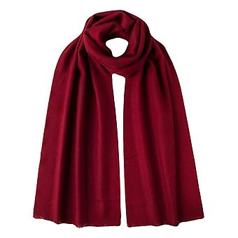 Johnstons of Elgin Extra Fine Merino Wool Scarf - Merlot Red