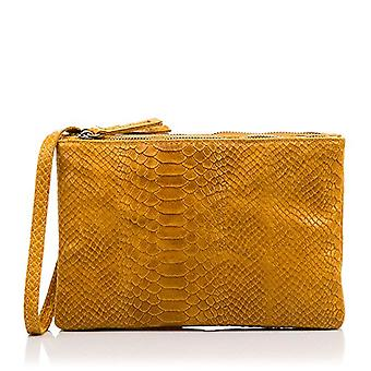 FIRENZE ARTEGIANI Real Leather Women's Bag. Genuine leather bag engraved snake. Short handle and shoulder bag. Woman's handbag. Made in ITALY. REAL ITALIAN PELLE 25x16x4 cm. Color: CUOIO