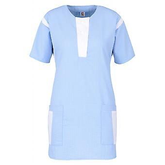 Light casack, women's cascade, slip cascade, care cascade, doctor's office, cringe-free, halbar, seersucker mixed fabric, German fabric, made in EU
