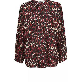 Masai Kleding Iria Red Animal Print Blouse