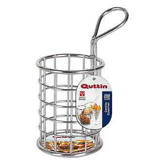 Basket for Presenting Aperitifs Quttin Circular Stainless steel (ø 7 x 9 cm)