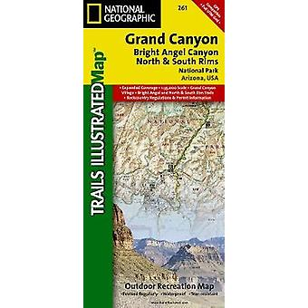 Grand Canyon Bright Angel Canyonnorth amp South Rims  Trails Illustrated National Parks by National Geographic Maps