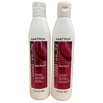 Matrix Total Results Heat Resist Shampoo & Conditioner All Hair Types 10.1 OZ Each