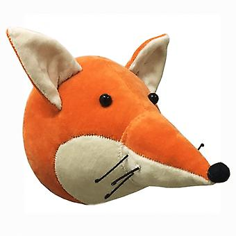 Fiona Walker England Velvet Fox Animal Mini Wall Head