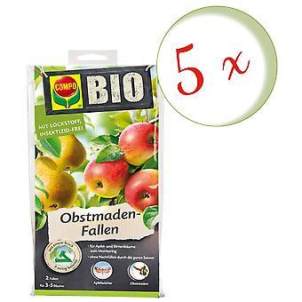 Sparset: 5 x COMPO BIO Fruit Made Traps, 2 pieces