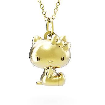 Hello Kitty Sitting 18ct Gold Plaqué Vermeil Charm Collier