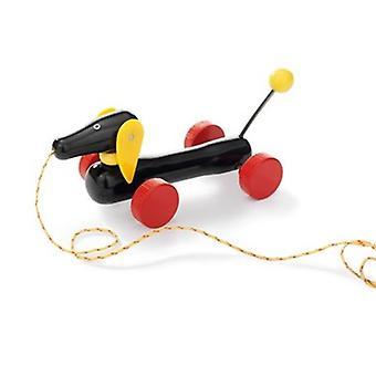 BRIO pequeño Pull-a lo largo de Dachshund 30332 niño tire a lo largo de juguete de madera