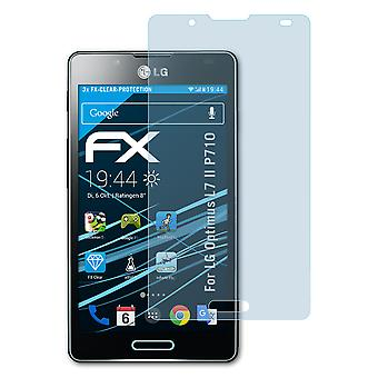 atFoliX Glass Protector compatible with LG Optimus L7 II P710 Glass Protective Film 9H Hybrid-Glass