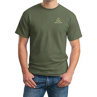 O Regimento de Staffordshire norte bordado logotipo - camisa oficial algodão T