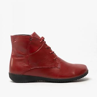 Josef Seibel Naly 09 Ladies Leather Ankle Boots Carmin Red