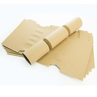 12 Natural Brown Recycled Kraft Make & Fill Your Own DIY Recyclable Crackers