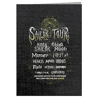 Sailor Moon Rock Tour Poster Greeting Card