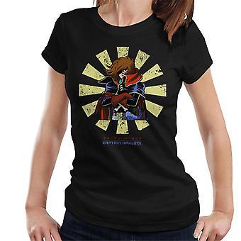 Capitán Harlock Retro Japonesa Mujeres's Camiseta