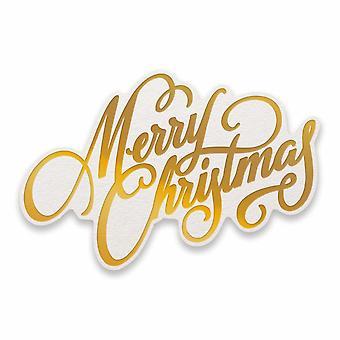 Couture Creations God Christmas Sentiment Cut, Folie och relief Die