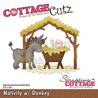 Scrapping Cottage Nativity with Donkey