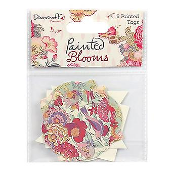 Dovecraft Painted Blooms Printed Tags