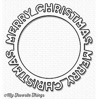 My Favorite Things Die-Namics Merry Christmas Circle Frame
