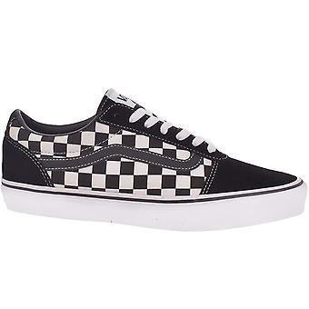 Vans Mens Ward Kariert Low-Top Canvas Sneakers Sneakers - Schwarz/True White