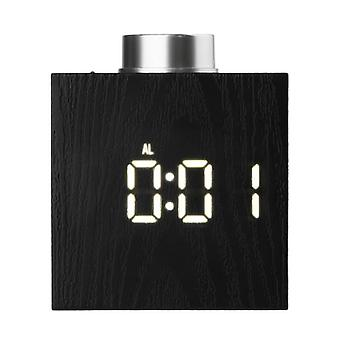 Ts-t13 digital cube rotate knop led clock adjustable temp °c/°f time 12h/24h display 3 mode snooze night light usb battery operated alarm clock